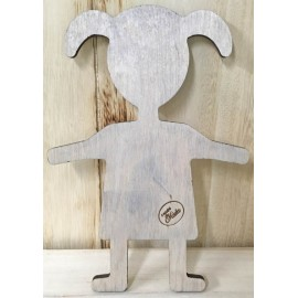 Wood Base in the shape of a girl