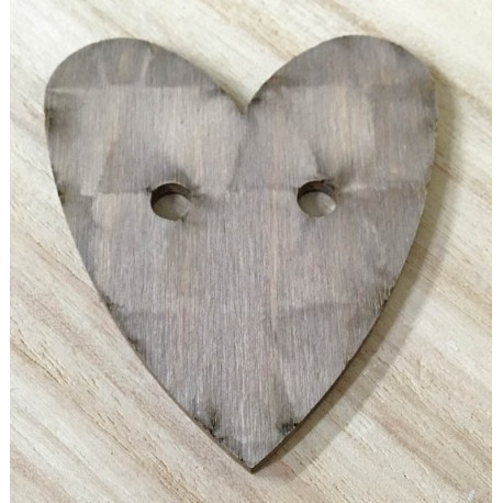 Wood Base in the shape of a heart with holes