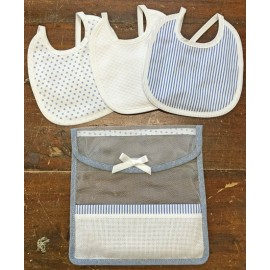 Bibs, set travel col. Blue