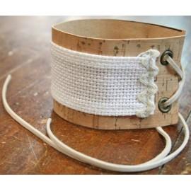 Bracelet in cork