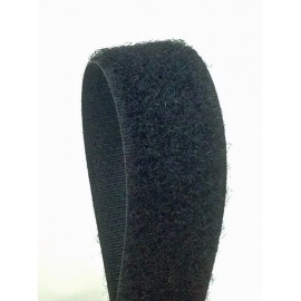 Velcro sew-on black 20 mm - female
