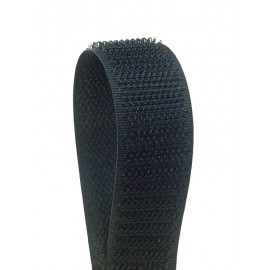 Velcro sew-on black 20 mm - male