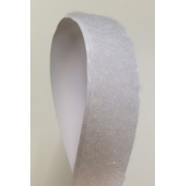 Velcro adhesive white 20 mm - female