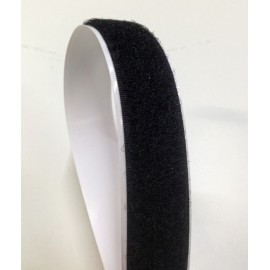Velcro fastener black 20 mm - female