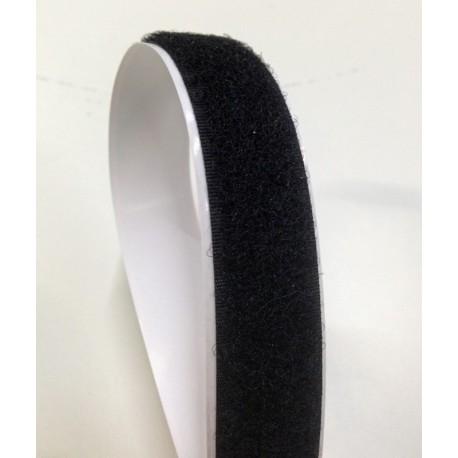 Velcro fastener black 20 mm - female