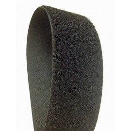 Velcro sew on black 50 mm - female