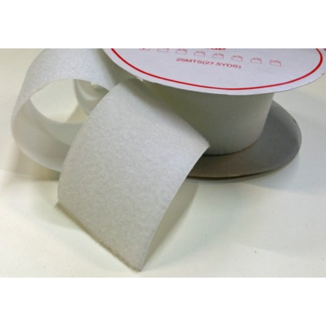Velcro sew white 100 mm - female