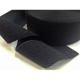 Velcro sew on black 100 mm - female