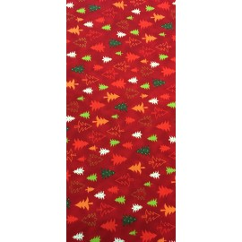 Fabric american christmas - col. Red fir