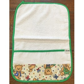 Towel asylum - col. Green with teddy bears