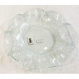 Base in vetro a forma di fiore - diagonale cm 23