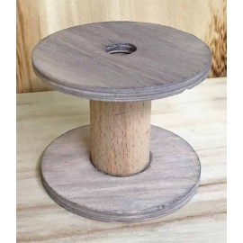 The wood Base in the shape of rocchetta - cm 7x8