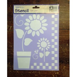Stencil flowers