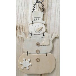 Wood Base in the shape of a Snowman