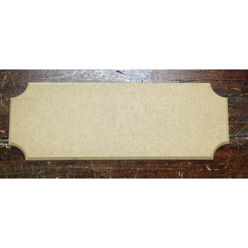 Base di legno di forma rettangolare for Hobbistica legno