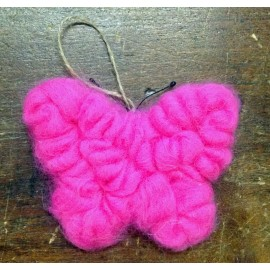 Butterfly eco wool fuchsia