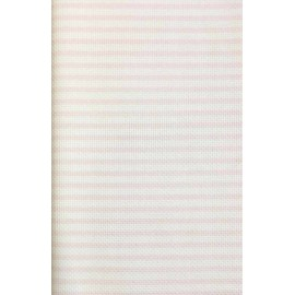 Canvas Aida Impressions - col. White striped pink