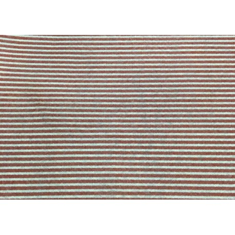 Cloth Lenci Asti 0.45 h - patterned red stripes