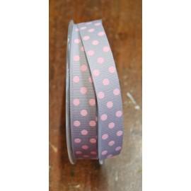 """Ribbon with polka dot print pink - """"Tapes Mirta"""""""