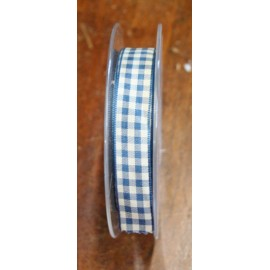 Nastro con stampa quadrettata blu balena - 'I Nastri di Mirta'
