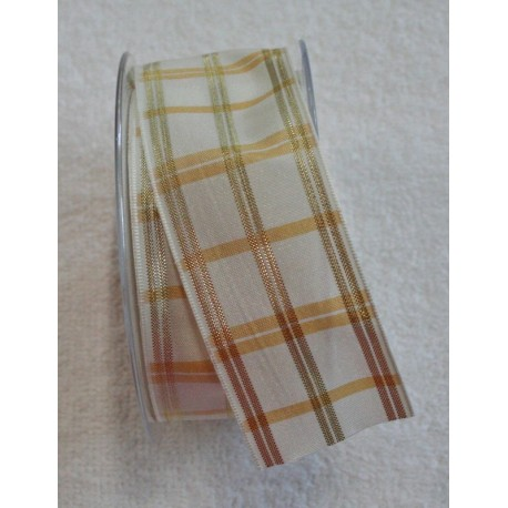 """A tape with a scottish print ecru/gold - """"The Tapes Mirta"""""""