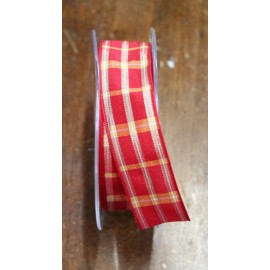 "A tape with a scottish print red/gold - ""The Tapes Mirta"""