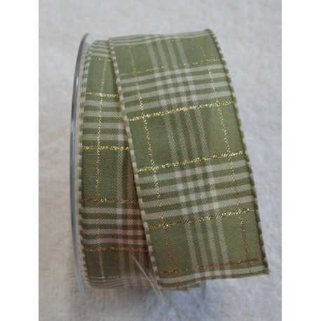 "A tape with a scottish print in sage green and gold - ""The Tapes Mirta"""