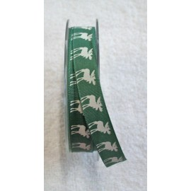 Tape with print, 'with love from Santa' with. Green - 'Tapes Mirta'