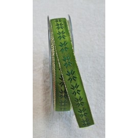 "Tape with printing Christmas star with. Green - ""Tapes Mirta"""