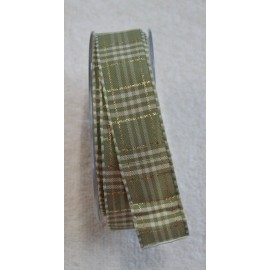 "A tape with a scottish print in sage green and gold 2 - ""The Tapes Mirta"""
