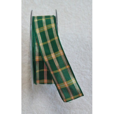"""A tape with a scottish print in green, yellow and gold - """"The Tapes Mirta"""""""