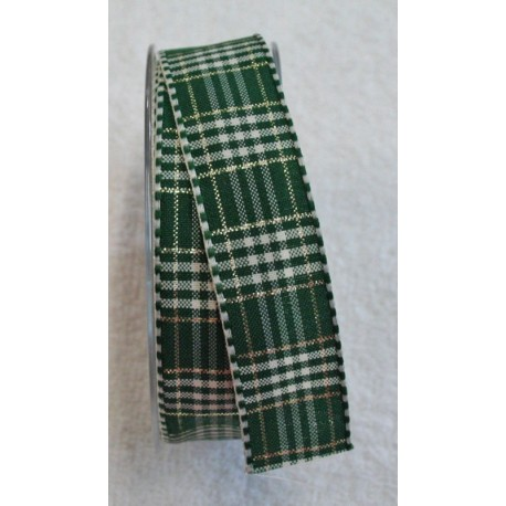 """Tape with print of the scottish green pine, gold and white - """"The Tapes Mirta"""""""
