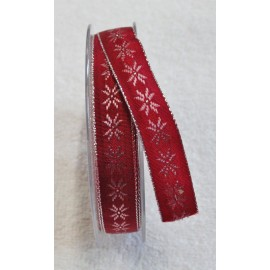 "Tape with printing Christmas star with. Red - ""The Tapes Mirta"""