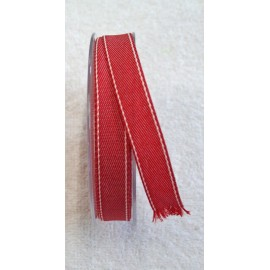 "Ribbon with. Faded red-white - ""The Tapes Mirta"""