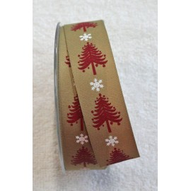 "Tape with print of spruce trees, and snow flakes - ""The Tapes Mirta"""