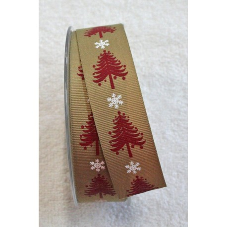 """Tape with print of spruce trees, and snow flakes - """"The Tapes Mirta"""""""
