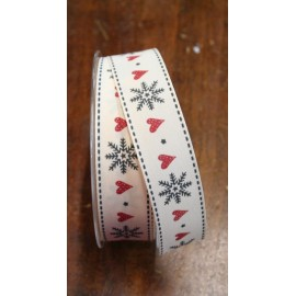 "Belt print with hearts and snowflakes - ""Tapes Mirta"""