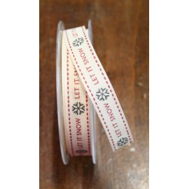 """Tape with print of the """"Let is snow"""" from 1.5 cm - """"Tapes Mirta"""""""