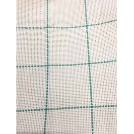 Aida fabric, square-h-150 - col. White and green