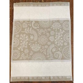 Cloth fancy mixed linen col. Hazel