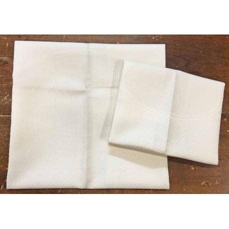 """Coppia asciugamani da bagno """"Emily"""" col. Avorio"""