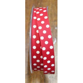 "Ribbon with polka dot print col. Red and white - ""The Tapes Mirta"""