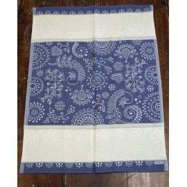 Cloth fancy mixed linen col. Blue