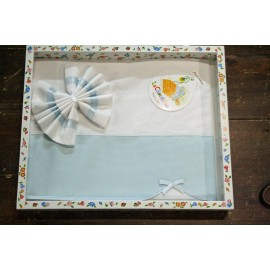 Cover sheet for cot light blue