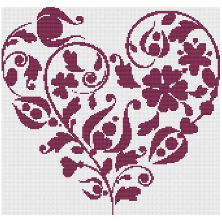 """Pattern """"Heart monochrome"""""""
