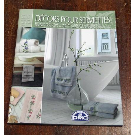 The book cross-stitch DMC - Decors pour serviettes