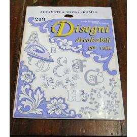 Libro Decalcabili 213 - Speciale alfabeti e monogrammi