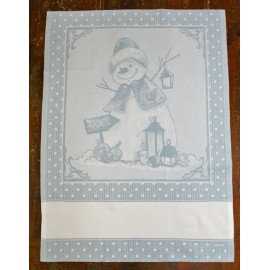 Cloth Snowman with. Blue