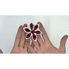 Kit tutorial - flower of satin ribbons