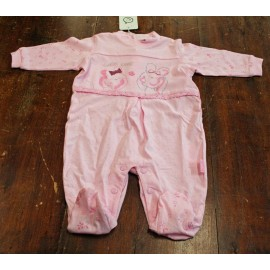 Tutina intera neonata 1/3 mesi, rosa